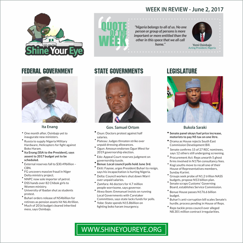 SYE Week Review (June 2, 2017)
