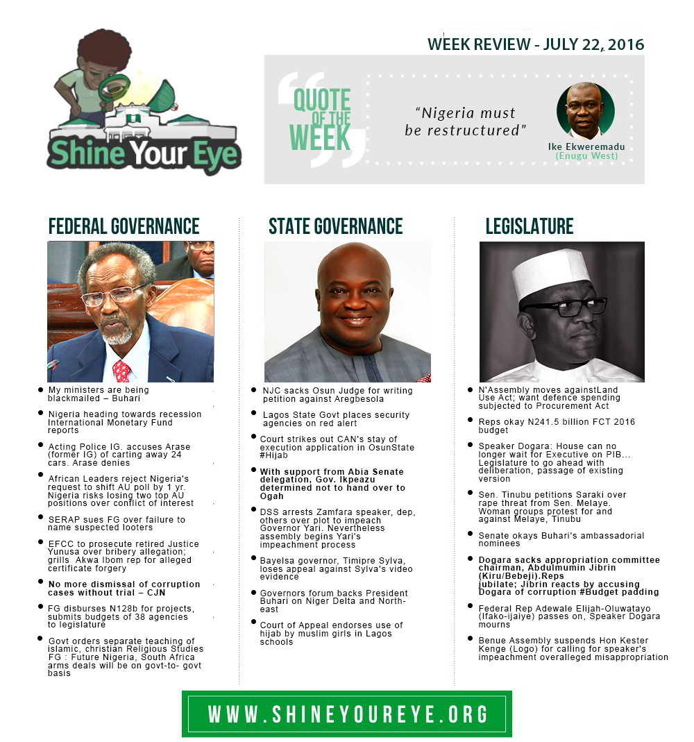 SYE Week Review (July 22, 2016)