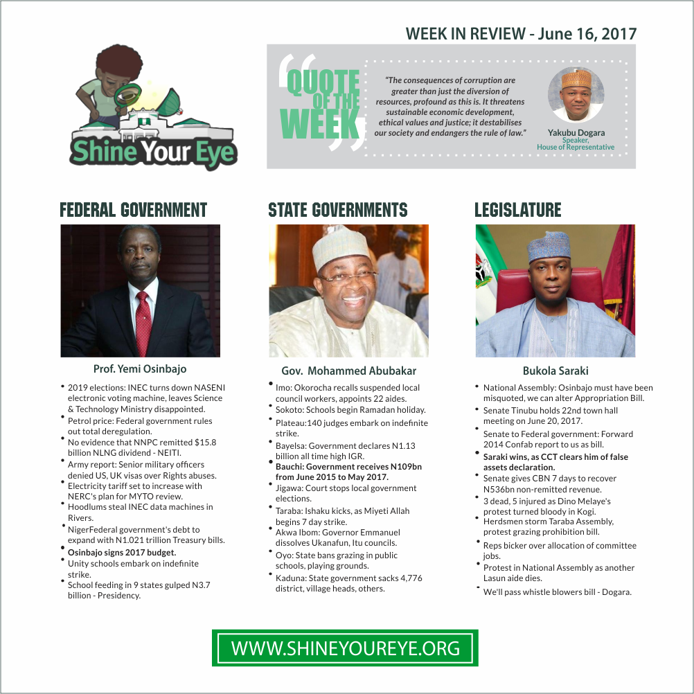 SYE Week Review (June 16, 2017)